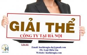 Giải thể công ty tại Hà Nội