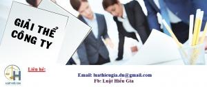 Giải thể doanh nghiệp tại Bắc Ninh