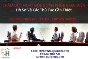 Giải thể văn phòng đại diện tại Hà Nội