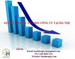 Giảm vốn điều lệ cho công ty tại Hà Nội