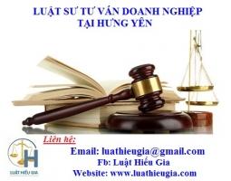 Luật sư Doanh nghiệp tại Hưng Yên