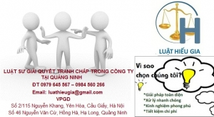 Luật sư giải quyết tranh chấp trong công ty tại Quảng Ninh