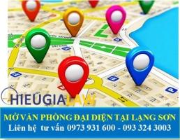 Mở Văn Phòng Đại Diện Tại Lạng Sơn