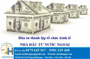 Nhà đầu tư nước ngoài đầu tư thành lập Tổ chức kinh tế tại Việt Nam