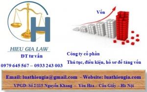 Tăng vốn điều lệ công ty cổ phần tại Quảng Ninh