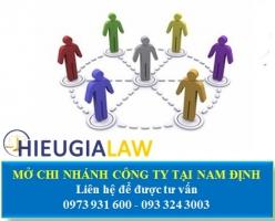 Thành Lập Chi Nhánh Công Ty Tại Nam Định