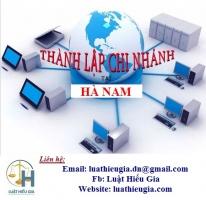Thành lập chi nhánh tại Hà Nam