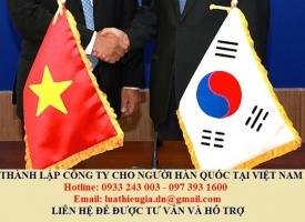 Thành lập công ty cho người Hàn Quốc tại Việt Nam