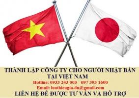 Thành lập công ty cho người Nhật Bản tại Việt Nam