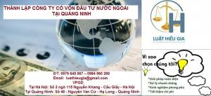 Thành lập công ty có vốn đầu tư nước ngoài tại Quảng Ninh