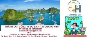 Thành lập công ty du lịch tại Quảng Ninh