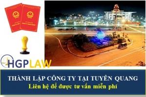 Thành Lập Công Ty Tại Tuyên Quang