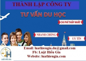 Thành lập công ty tư vấn du học tại Hà Nội