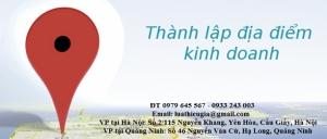 Thành lập địa điểm kinh doanh tại Quảng Ninh
