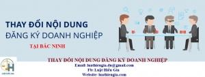 Thay đổi đăng ký Doanh nghiệp tại Bắc Ninh