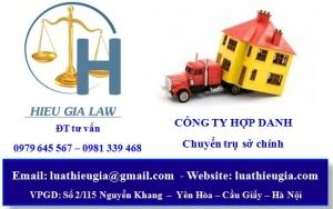 Thay đổi địa chỉ trụ sở chính công ty hợp danh