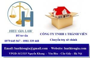 Thay đổi địa chỉ trụ sở chính công ty TNHH một thành viên