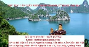 Thủ tục cấp Giấy phép kinh doanh lữ hành nội địa tại Quảng Ninh