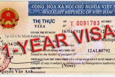 Thủ tục cấp visa 1 năm cho người nước ngoài