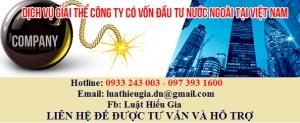 Thủ tục giải thể công ty nước ngoài tại Việt Nam