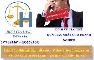 Thủ tục giải thể công ty tại Quảng Ninh