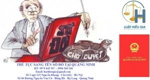 Thủ tục sang tên sổ đỏ tại Quảng Ninh