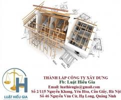 Thủ tục thành lập công ty xây dựng