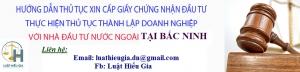 Xin cấp giấy chứng nhận đầu tư cho người nước ngoài tại Bắc Ninh