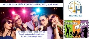 Xin cấp Giấy phép kinh doanh dịch vụ karaoke