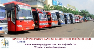 Xin cấp Giấy phép kinh doanh vận tải bằng xe khách theo tuyến cố định