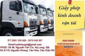 Xin cấp Giấy phép kinh doanh vận tải bằng xe ô tô tại Quảng Ninh