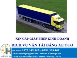 Xin cấp giấy phép kinh doanh vận tải bằng ôtô