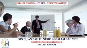 Xin dự án đầu tư nước ngoài tại Bắc Ninh