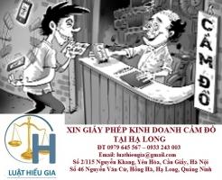 Xin giấy phép kinh doanh cầm đồ tại Hạ Long