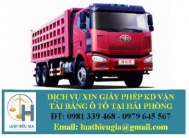 Xin giấy phép kinh doanh vận tải bằng ô tô tại Hải Phòng