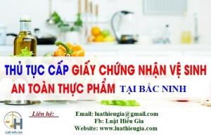 Xin giấy phép vệ sinh an toàn thực phẩm tại Bắc Ninh