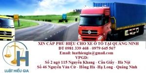 Xin phù hiệu cho xe ô tô tại Quảng Ninh