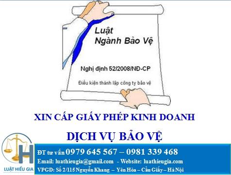 Xin giấy phép kinh doanh dịch vụ bảo vệ